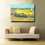 Peinture à l'huile fabriquée à la main en gros d'horizontal de paysage d'automne sur la toile