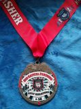 Medaglia personalizzata del ricordo per la maratona mezza, polizia, lega