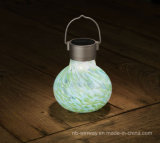 Lámpara portable decorativa del vector solar de cristal del arte