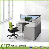 Neuer Entwurf L Form-Büro-Arbeitsplatz für Person 4