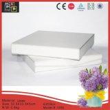 Caja de regalo plegable material de lino blanca (1006)