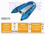 Barco inflável de Hypalon do reforço (Rib270)