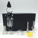 14mm 합동 티타늄 못 연기가 나는 장비 감로 수집가 유리제 관, 물 연기가 나는 관