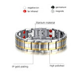 磁気ブレスレットの方法宝石類のチタニウムのブレスレット(TB102)