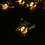 크리스마스 나무 축제 당 훈장 요전같은 빛을%s 다채로운 나비 LED 태양 끈 빛 20LED/30LED
