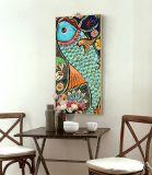 Peinture décorative de type chinois pour l'art de mur d'entrée d'hôtel