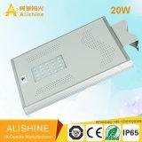 Luz de calle solar de alta potencia con poste para iluminación exterior