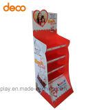 Fußboden-Papier-Bildschirmanzeige-Pappbildschirmanzeige-Regal für Supermarkt