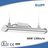 IP65 130lm/W60W de LEIDENE Lineaire Hoge Lichte Buis van de Baai