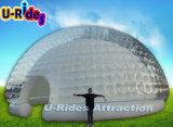Runde aufblasbares klares Blasen-Zelt mit LED-Licht