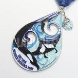 Preiswerter Zoll personifizierte Entwurf sublimierte Metallkleber-Drucken-Firmenzeichen-Medaillon-Medaille mit Drucken-Farbband