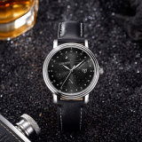 Z366-New Form-Leder-kühle Mann-beiläufige Armbanduhr-Mann-Uhr
