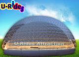 Круглый надувной ясный шарик пузыря со светодиодной подсветкой