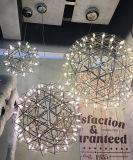 호텔을%s 공 그늘 스테인리스 펀던트 램프 LED 불꽃 놀이 거는 빛