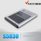 Batería para la galaxia, batería de la larga vida, batería androide del teléfono 1350mAh (EB494358VU S5830) del as S5830