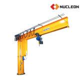 Grue de potence de pivotement de pilier de nucléon 5 tonnes avec l'élévateur à chaînes