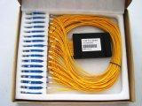 Divisor del PLC del rectángulo plástico de la telecomunicación 1X32 de Gpon para CATV/de fibra óptica