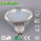 3W MR16 Bombilla LED Foco regulable Lámpara LED Concha Vidrio