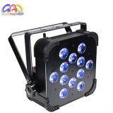Luces blancas de la etapa de la radio LED de la IGUALDAD plana de la batería 12X10W de la IGUALDAD del LED