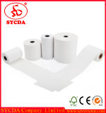 Rodillo del papel de pulpa de madera del papel termal de la caja registradora del sistema 80m m de la posición