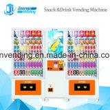 Привлекательный торговый автомат экрана с читателем и автоматом для размена денег примечания