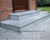 Baumaterial-natürliche graue Granit-Fußboden-Poliersteinfliese