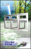 Алюминиевое окно наклона и поворота стеклянное (ОКНО НАКЛОНА И ПОВОРОТА СЕРИИ 55)