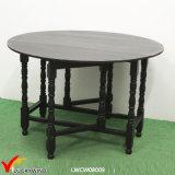 マルチ機能黒の木製の円形の折るダイニングテーブル
