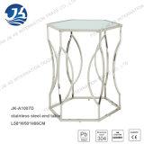Tavolino da salotto dell'acciaio inossidabile con Glassare-Vetro