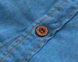 2 لون جديات يلبّي نمط فتى دنيم قماش قميص