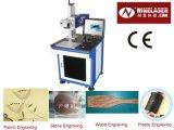 Машина маркировки лазера СО2 отметки 30W лазера цельной акриловой кожи ткани деревянная