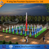 Fontaine sèche de musique de trou de marbre d'étage