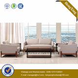 Sofa moderne de bureau de divan de cuir véritable de meubles de bureau (HX-CF011)