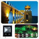 Прожектор 50W RGB водоустойчивого напольного света проекции парка освещения AC85-265V IP67 тонкий