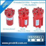 Bits Drilling da tecla da linha T38