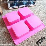 Прессформа мыла квадрата прессформы контейнера кубика льда полостей прессформы 4 силикона
