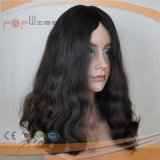 黒く完全な人間のバージンのRemyの加工されていない女性のかつら(PPG-l-0635)