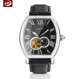 人のためのカスタマイズされたロゴの大きいダイヤルの水晶ステンレス鋼の腕時計