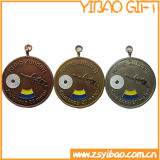 Kundenspezifisches Firmenzeichen-Silber-Auto-Emblem mit dem 3m Aufkleber (YB-MP-01)