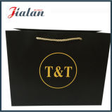 Goldfirmenzeichen-Entwurf Wholesales preiswerten schwarzen Papiergeschenk-Beutel
