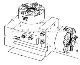 Bloco quadrado pneumático Erowa para mandril vertical horizontal