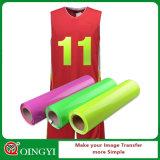 Vinyle d'unité centrale de transfert thermique de personnalité de point culminant de Qingyi pour des T-shirts