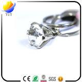 Entwurfs-Leder-Schlüsselring des Kristall-R