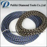 El alambre del diamante vio que el alambre de goma del recubrimiento plástico de los granos vieron
