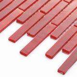 Piccolo mosaico dei quadrati delle mattonelle di Backsplash del mestiere di vetro rosso della stanza da bagno