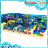 Спортивная площадка роскошного оборудования занятности детей мягкого крытая с бассеином шарика