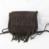 Trendy Kuh Split Leder Cross Body Fringe Bag