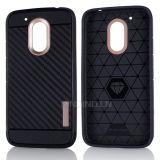 Weicher Kohlenstoff-Faser-Telefon-Kasten für Spiel Motorola-Moto G4