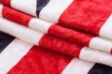 極度の柔らかさの100%年のポリエステルによって印刷されるSherpaの羊毛の投球-英国旗
