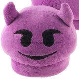 Deslizador caliente de la felpa del monstruo del deslizador púrpura de Emoji